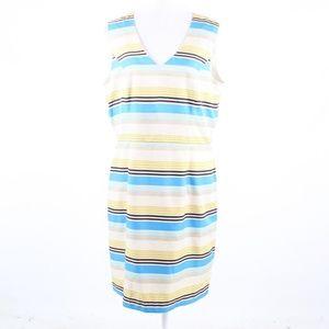 Banana Republic ivory strapless sheath dress 14